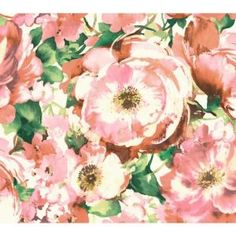 York Wallcoverings Watercolors Watercolor Poppy Wallpaper WT4504 at The Home Depot - Mobile