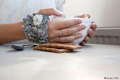 Mitaines tricotées à la main en fibre de par LaMauvaiseGraine