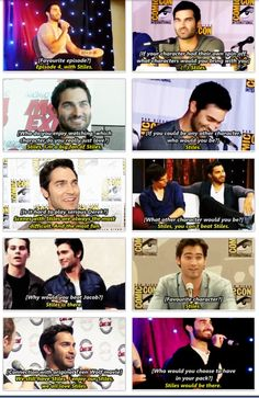 Teen wolf - Tyler Hoechlin loves Stiles *cough8 Sterek *cough, cough*