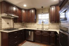 backsplash tile for cherry cabinets - Google Search