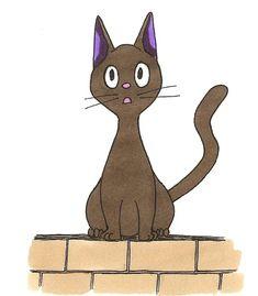 Coloriage de Jiji le chat de Kiki la petite sorcière Jiji, Trait Vertical, Scooby Doo, Anime, Fictional Characters, Art, Pencil Drawings, Color Pencil Picture, Midget Cat