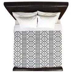 White Grey Pattern King Duvet on CafePress.com buy now $187.99
