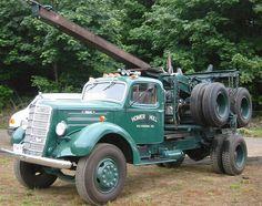 Mack. Truck. Logger.  Wagon