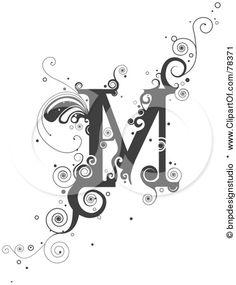 Royalty-Free (RF) Clipart Illustration of a Vine Alphabet Letter M