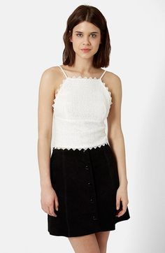 Topshop Crochet Top available at #Nordstrom