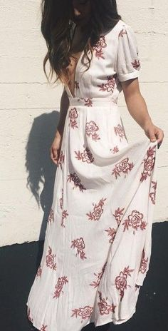 #summer #trending #outfitideas |  Floral Maxi Dress