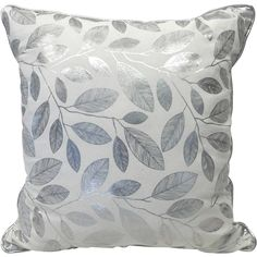Bh&G Glamorous Foil Leaves Reversible Pillow Size: x cm x cm) Contemporary Leaf design with Foil binding Reversible Foil motif in silve Toss Pillows, Accent Pillows, Fall Deco, Pillow Reviews, Beds For Sale, Furniture Deals, Better Homes And Gardens, Leaf Design, Accent Pieces
