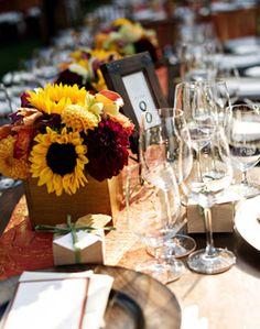WeddingChannel Galleries: Sunflower Table Decor