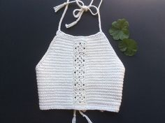 "Bohemian crochet halter ""kaya""100% cotton by favoritelittlecorner on Etsy https://www.etsy.com/listing/256822294/bohemian-crochet-halter-kaya100-cotton"