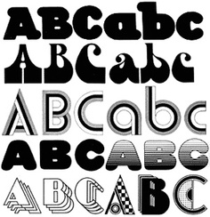 Assorted typefaces. Seymour Chwast
