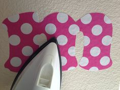 iron on fabric wall decals, really neat idea!