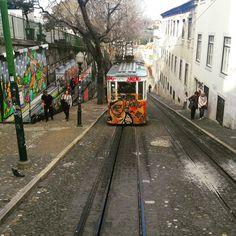 Going up. Glória Funicular is a great way of connecting Downtown Lisbon and the Bairro Alto. The journey uphill starts at Restauradores Square and it will leave you at the entrance of the Bairro Alto and by São Pedro de Alcântara viewpoint. Saving Lisboans' and visitors' legs since 1885. :-) #gloriafunicular #lisbontrams #bairroalto #history #lisbon #lisbontailoredtours #lisbonwithpats