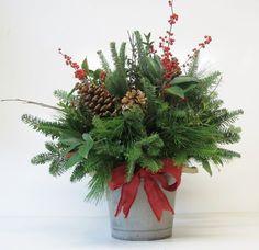 Christmas Arrangements - Assorted Greenery Arrangements