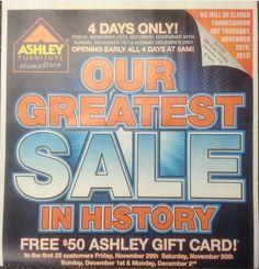 602efaa6d8a Black Friday Freebies 2013  Free Ashley Furniture  50 Gift Card