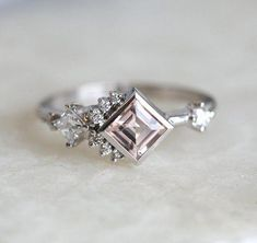 9d4d1c3fd Engagement Ring Diamond Cluster Ring Cluster Engagement #engagementrings