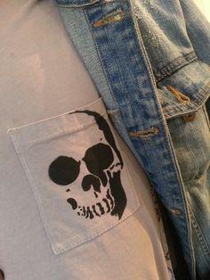 Skull stencil