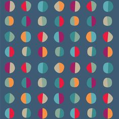 blue // gray // fuchsia // teal // orange // red // polka dots // pattern