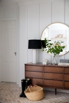 Our Metal Framed mirror spotted in Anissa and Brian Zajac Indian home. Seen on Apartment Therapy!