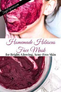 homemade hibiscus face mask #facemask #homemadefacemask #hibiscusmask