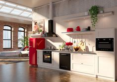 Smeg Victoria appliances in this Cream Kitchen