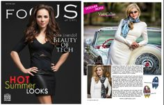 @VASI Moda featured in the May/June issue of Focus SWFL Magazine. #scarf #design #fashion #luxury