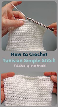 Learn how to crochet the Tunisian Crochet Simple Stitch with this easy to follow photo tutorial with step by step instructions. It is easier than it looks, even if you're a beginner! Ever fancied learning Tunisian Crochet? https://jo-creates.com/2018/04/23/ever-fancied-learning-tunisian-crochet/