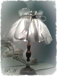 lampe de chevet récup