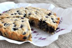 """Blueberry """"scones"""" I added some lemon zest, used a little less coconut oil and baked them as muffins. Yummness!  I might try these with almond butter next time."""