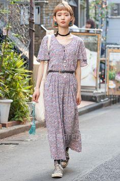 Makoto | used petitJumelle CONVERSE | 4th week  Jun. 2016 | Harajuku | Tokyo Street Style | TOKYO STREET FASHION NEWS | style-arena.jp