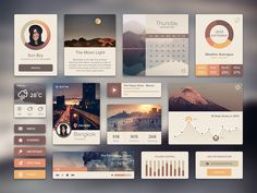 I make this UI Kit while the rain is falling. Yes, it is the rainy and soon to be winter. My work may look a little pale.  Can you see the full-size image in the attached file.  Hope you will like ...