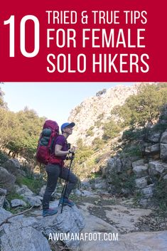 Hit the trails Ladies With those 10 tips your next solo hike will be the best yet hiking best hiking tips women hiking alone solo travel backpacking hike women hiki. Backpacking For Beginners, Backpacking Tips, Hiking Tips, Hiking Gear, Hiking Backpack, Hiking Shoes, Travel Backpack, Travel Bags, Ultralight Backpacking