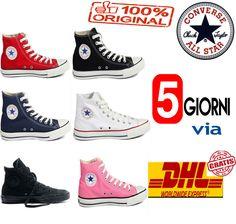 9f894acbb3a66 Nuovo Scarpe Converse All Star Chuck Taylor Uomo Donna Alte Tela Classic  Shoes