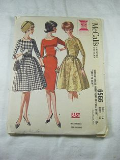 Vintage 50s WIGGLE DRESS PATTERN Mad Men Style    by LavenderGardenCottage etsy