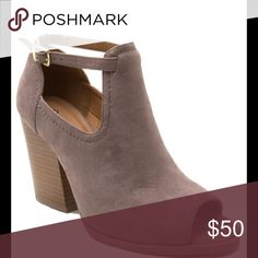 🎉SALE🎉Ladies peep toe ankle buckle strap bootie 🎉SALE THIS WEEKEND ONLY🎉Very stylish high top ankle  buckle open toe chunky heels  booties for ladies. Taupe color. Brand new in box. 4 inches heels. Available also in black and mauve colors NO TRADES shoeroom21 boutique Shoes Ankle Boots & Booties