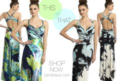 Camille La Vie multicolor prom dress in beautiful patterns