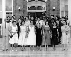 Mrs Bolden is first on the left, second row,  immediately behind Principal C. W. Fields.  (1950s)