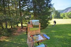 Cashiers Plein Air Paint Out at Lonesome Valley