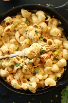 Vegan Green Chili Mac n Cheese   Minimalist Baker Recipes- I left out the tortilla chips all together, and added in a can of drained rotel tomatoes.