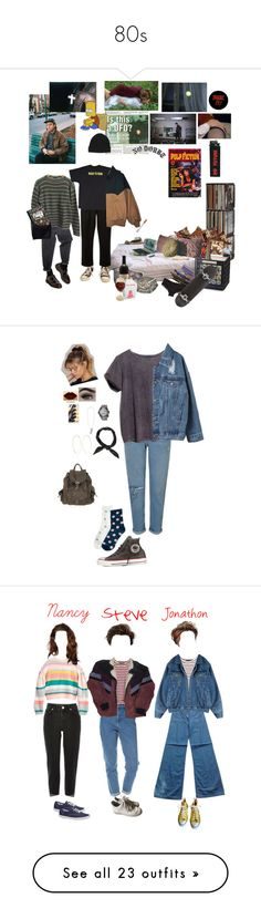 """""""80s"""" by pinton-lge ❤ liked on Polyvore featuring Levi's, Prada, Humör, CB2, Calvin Klein, Converse, RED Valentino, Donna Karan, Miss Selfridge and ATG"""