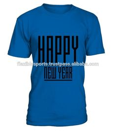Finest Model Happy New Year Blue Colour Half Sleeve T-Shirt With Compatible Price..