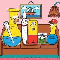 The Simpsons as weed paraphernalia
