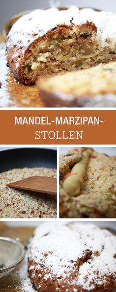 Rezept für Weihnachten: Mandel-Marzipan-Stollen backen / recipe for a traditional stollen, fruit cake via DaWanda.com