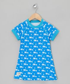 Blue elephant dress