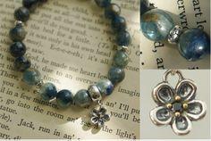 "8mm Kyanites mystic blue color handmade qi bracelet ""Rev""/Inspiration bracelet/spiritual crystal bracelet/Gemstones  https://www.etsy.com/listing/188566220/8mm-kyanites-mystic-blue-color-handmade?"