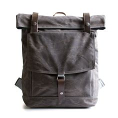 The Backpack in Brown waxed canvas by moop on Etsy, #fathersdaygifts #giftideas