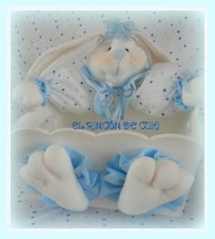 love this bunny that has a body of a container for possibly colored eggs, or as a Easter basket to someone special, etc. Baby Crafts, Easter Baskets, Bunny, Teddy Bear, Baby Shower, Dolls, Colored Eggs, Container, Google