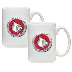 Louisville Cardinals Coffee Mug Set of 2