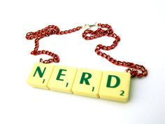 NERD Scrabble Necklace by LilRedsBoutique on Etsy, €13.00