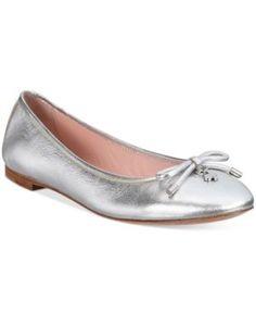 kate spade new york Willa Ballet Flats - Silver 5.5M