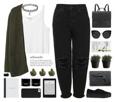 """""""Yuri"""" by chelseapetrillo ❤ liked on Polyvore featuring Revolver, Monki, Quay, MANGO, Boutique, Vans, Danielle Foster, Lux-Art Silks, Muuto and women's clothing"""